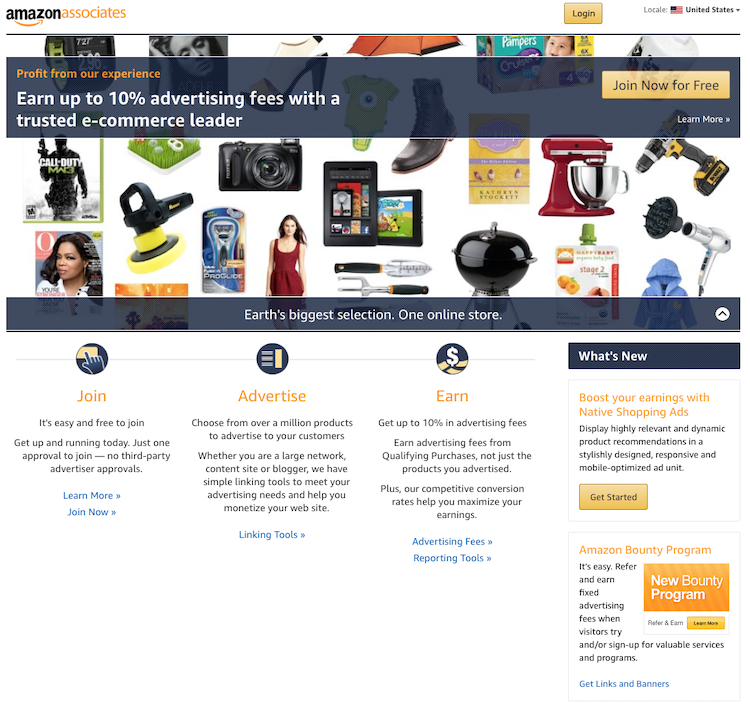how to start an online business with Amazon Associates
