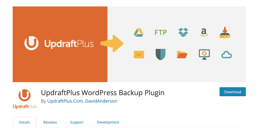 how to start a blog and install UpdraftPlus