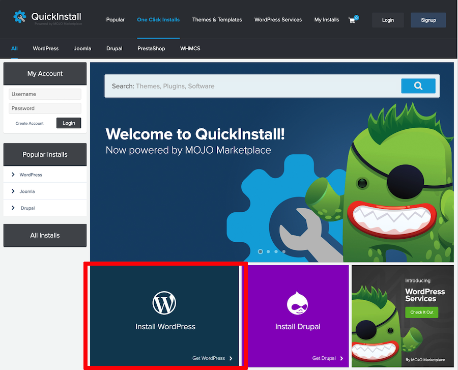 WordPress Quickinstall