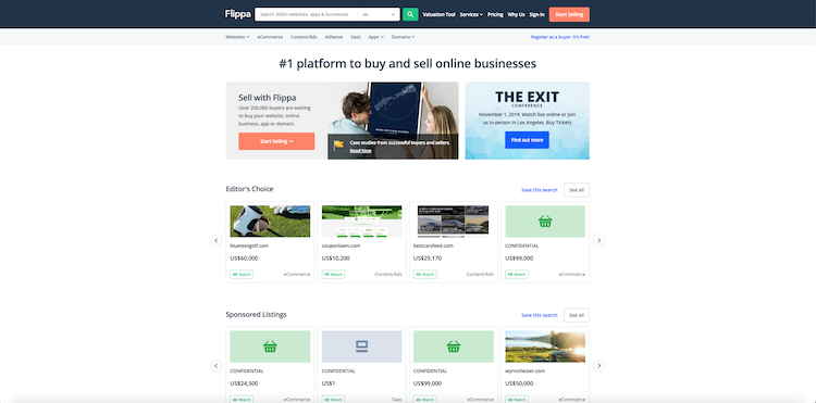 how to flip websites and domains on the flippa.com marketplace