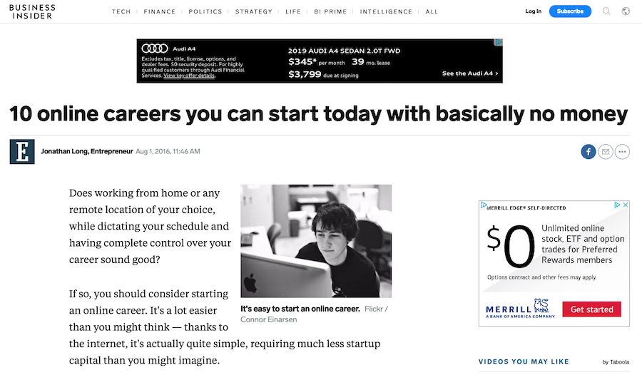 how to guest blog on Business Insider