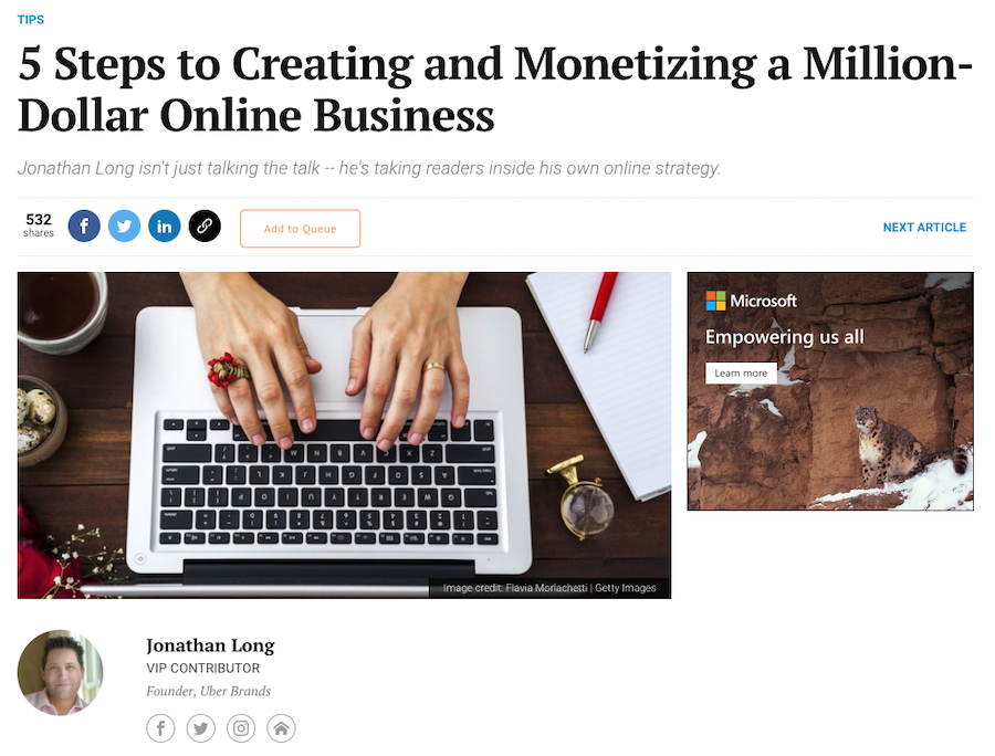 how to guest blog on Entrepreneur