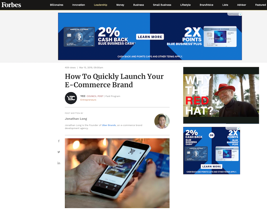 how to guest blog on Forbes