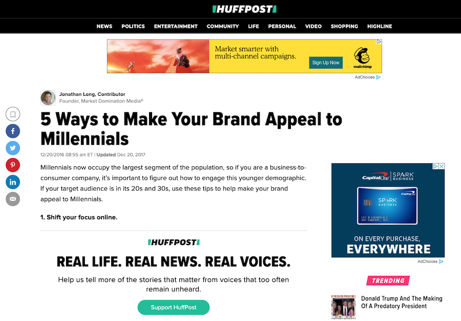 how to guest blog on HuffPost