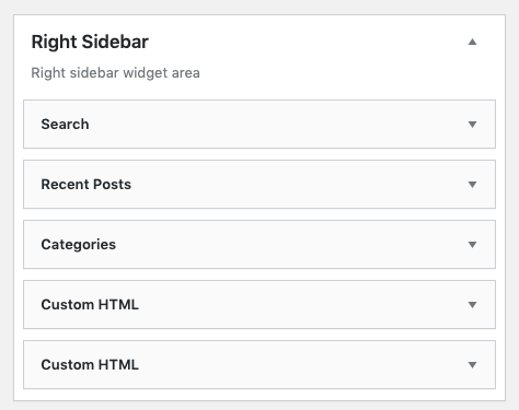 example WordPress sidebar