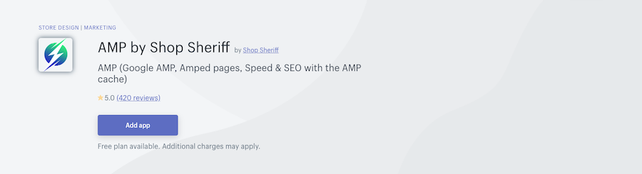 AMP by Shop Sheriff Shopify app review