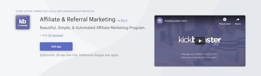 Affiliate & Referral Marketing Shopify app review