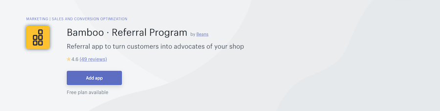 Bamboo Referral Program Shopify app review