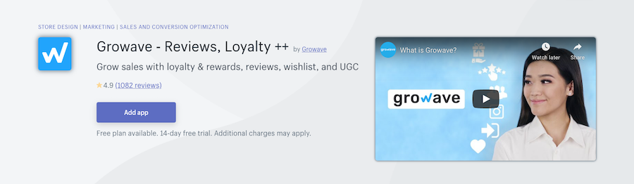 Growave ‑ Reviews, Loyalty ++ Shopify app review