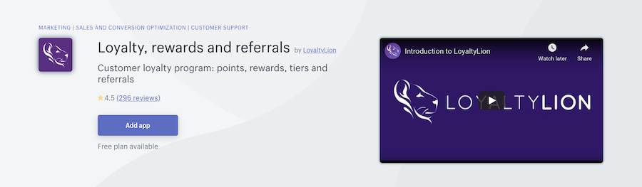 LoyaltyLion Loyalty, Rewards & Referrals Shopify app review