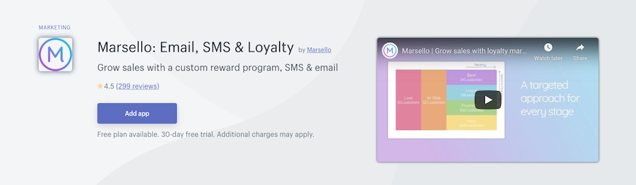 Marsello Email, SMS & Loyalty Shopify app review