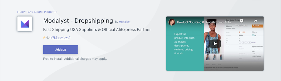 Modalyst Dropshipping Shopify app review