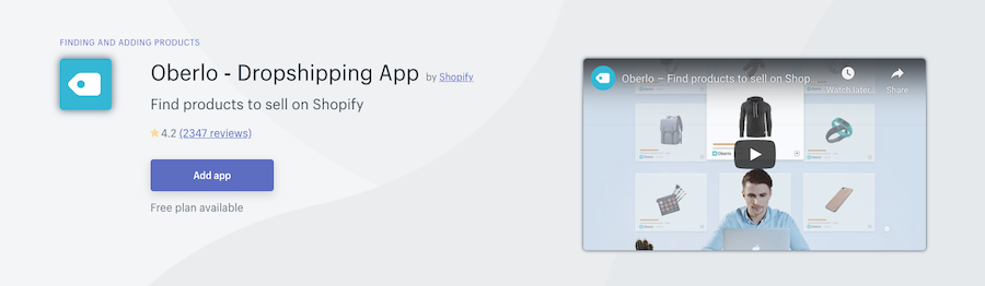 Oberlo Dropshipping Shopify app review