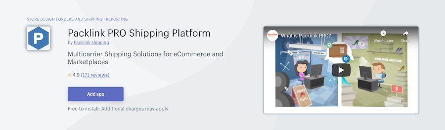 Packlink PRO Shipping Platform Shopify app review