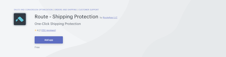 Route Shipping Protection Shopify app review