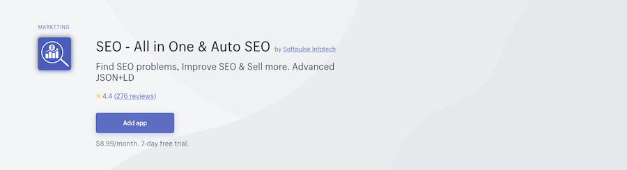SEO ‑ All in One & Auto SEO Shopify app review