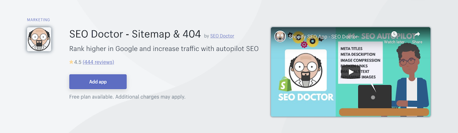 SEO Doctor Shopify app review