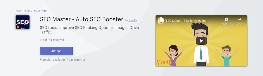 SEO Master ‑ Auto SEO Booster Shopify app review