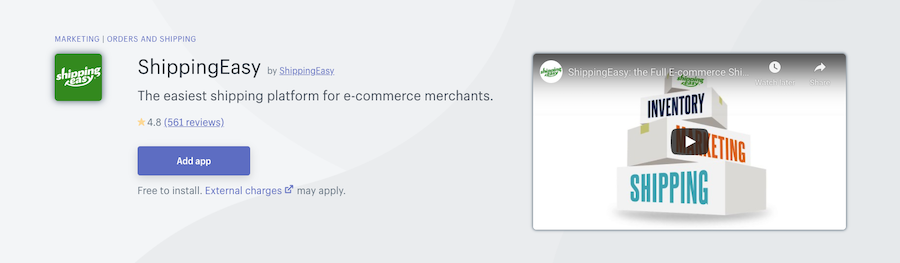 ShippingEasy Shopify app review