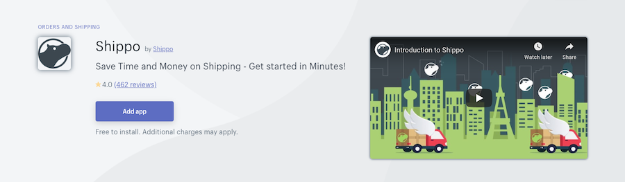 Shippo Shopify app review
