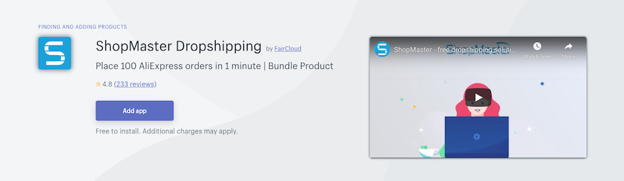 ShopMaster Dropshipping Shopify app review