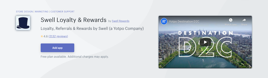 Swell Loyalty & Rewards Shopify app review